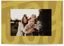 This is a yellow holiday photo card by Jen Owens called Big Joy with standard printing on signature in standard.
