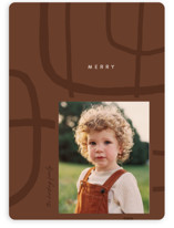This is a brown holiday photo card by Erin L. Wilson called Pathway with standard printing on signature in standard.