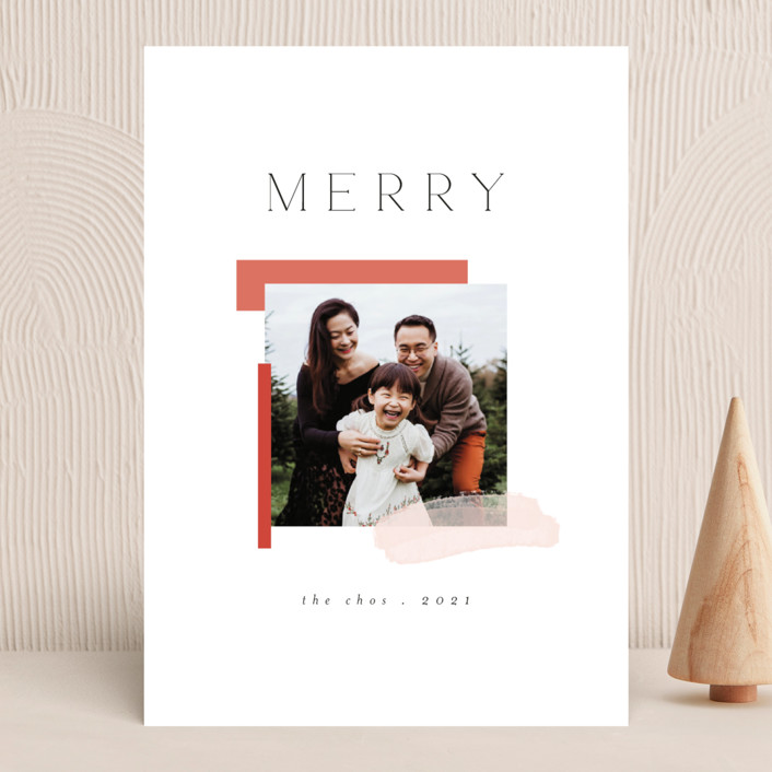 """""""Assemblage"""" - Modern Holiday Photo Cards in Snow by Morgan Kendall."""