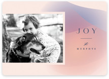 This is a pink holiday photo card by Carly Reed Walker called Moda with standard printing on signature in standard.