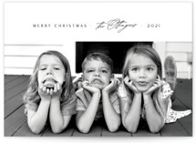 This is a white holiday photo card by Design Lotus called matchmaker with standard printing on triplethick in standard.