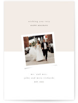 This is a white holiday photo card by Up Up Creative called Half and Half with standard printing on triplethick in standard.