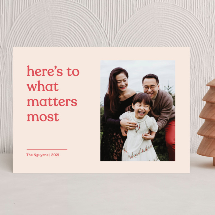 """""""Candid"""" - Holiday Photo Cards in Peppermint by Annie Clark."""