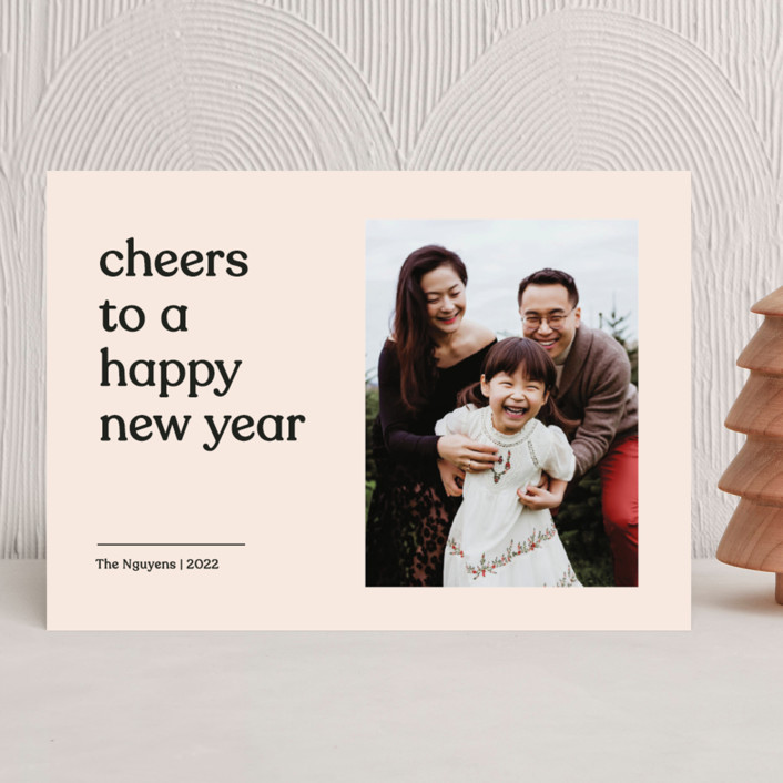 """""""Candid"""" - Holiday Photo Cards in Coal by Annie Clark."""