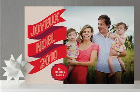 Banner + Burst Holiday Photo Cards