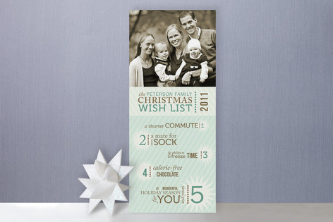 Our Christmas Wishlist Holiday Photo Cards