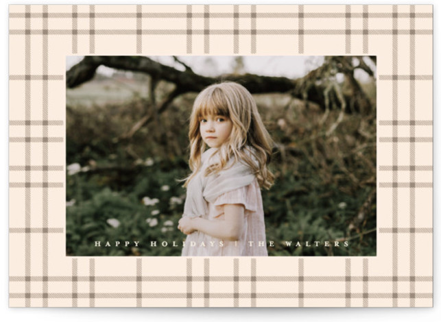 Classic Plaid Holiday Photo Cards