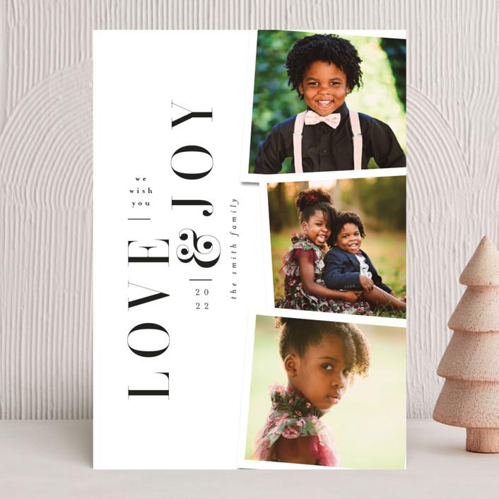 """Love&Joy"" - Holiday Photo Cards in Snow by Ana de Sousa."