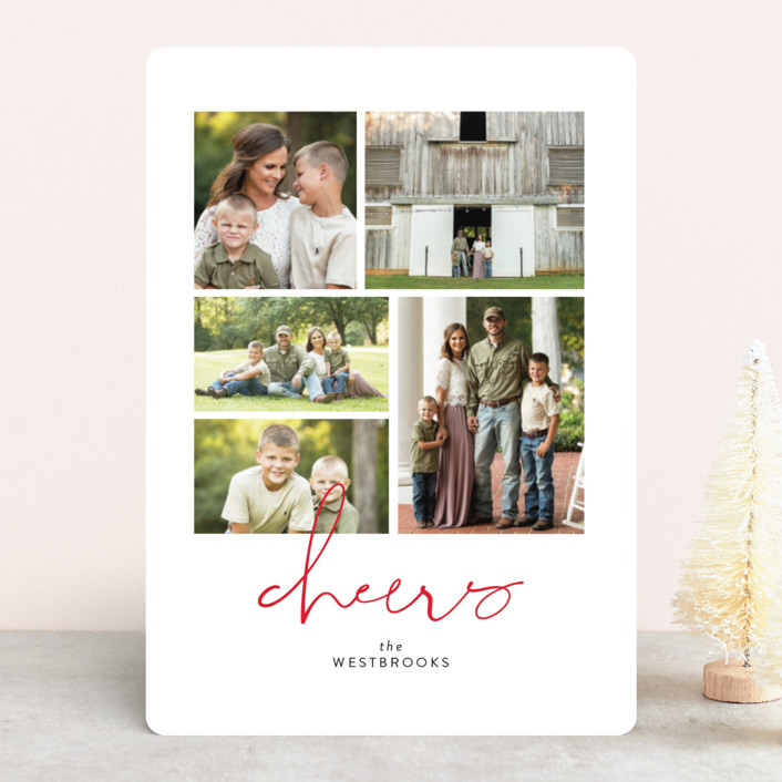 """High Five"" - Holiday Photo Cards in Cloud by Erin Deegan."