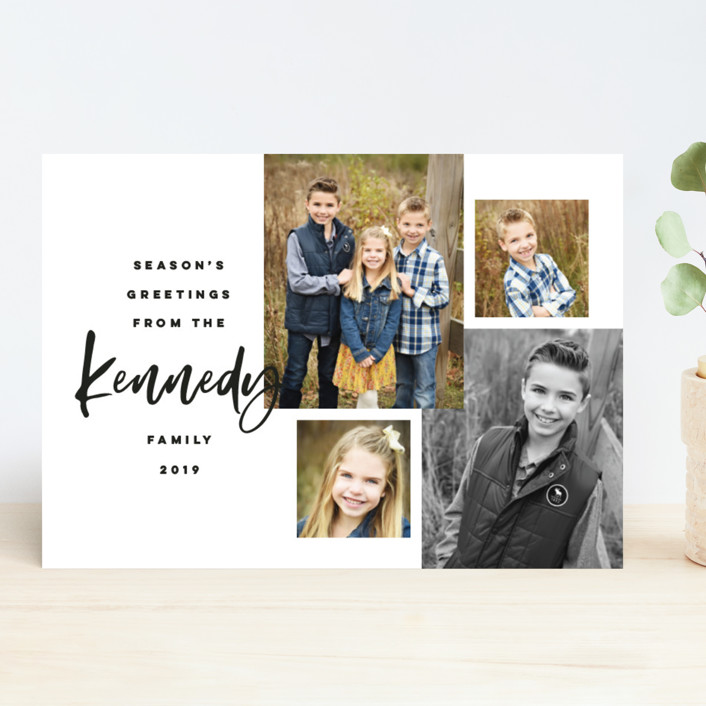 """""""Our Family Photos"""" - Holiday Photo Cards in Ink by Pink House Press."""