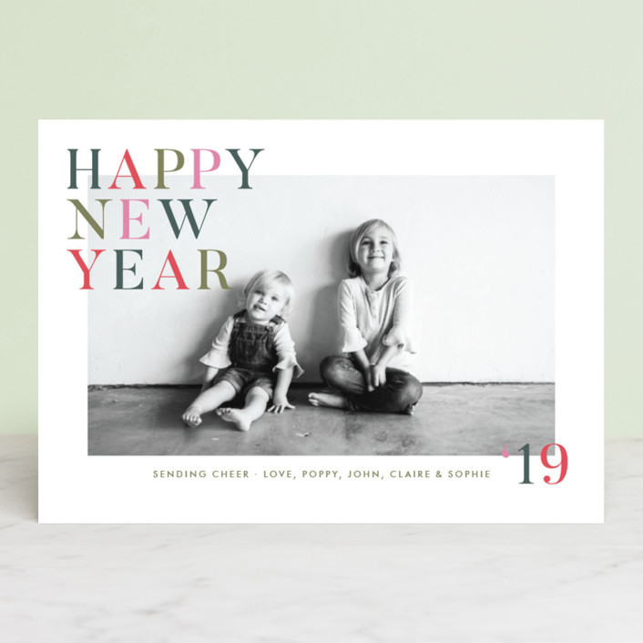 """""""Happy Cheer"""" - Holiday Photo Cards in Evergreen by Toast & Laurel."""
