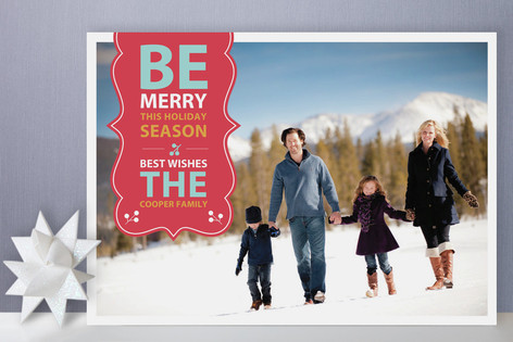 Be Merry Banner Holiday Photo Cards