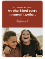 This is a brown holiday photo card by Jessica Corliss called Cherish Together with standard printing on smooth signature in standard.