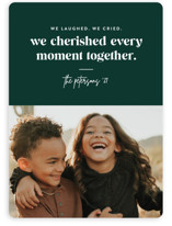 This is a green holiday photo card by Jessica Corliss called Cherish Together with standard printing on smooth signature in standard.
