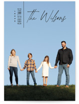This is a black holiday photo card by Owl and Toad called Modern Edge with standard printing on smooth signature in standard.