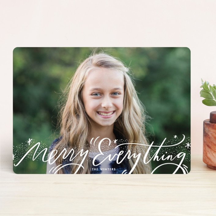 """Everything Script"" - Holiday Photo Cards in Snow by Julie Murray."