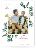 This is a white holiday photo card by Oma N. Ramkhelawan called Joyful Home with standard printing on triplethick in standard.