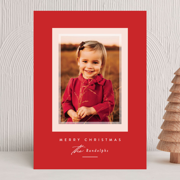 """""""Prism"""" - Holiday Photo Cards in Holly Berry by Jessica Williams."""