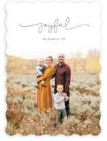 This is a black holiday photo card by Erica Krystek called Simply Scripted with standard printing on smooth signature in standard.