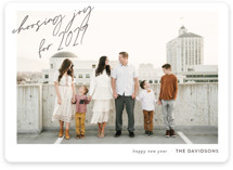 This is a white holiday photo card by Erin Niehenke called A Year to Choose Joy with standard printing on smooth signature in standard.