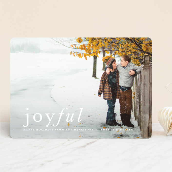 """Balance"" - Holiday Photo Cards in Snow by carly reed walker."