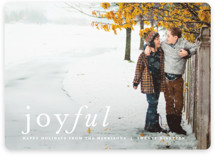 This is a white holiday photo card by carly reed walker called Balance with standard printing on smooth signature in standard.