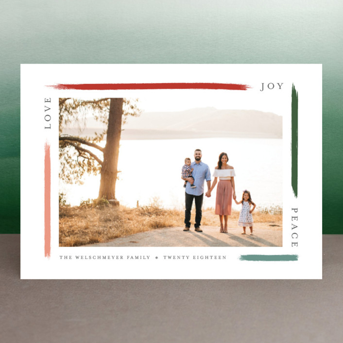"""""""holiday brushed"""" - Holiday Photo Cards in Apple by Bethany McDonald."""