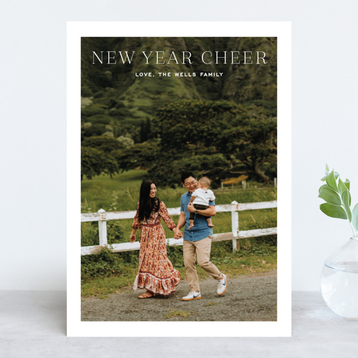 """""""Happy and bright"""" - Holiday Photo Cards in Snow by Toast & Laurel."""