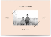 This is a pink holiday photo card by Dozi called Editorial Frame with standard printing on smooth signature in standard.