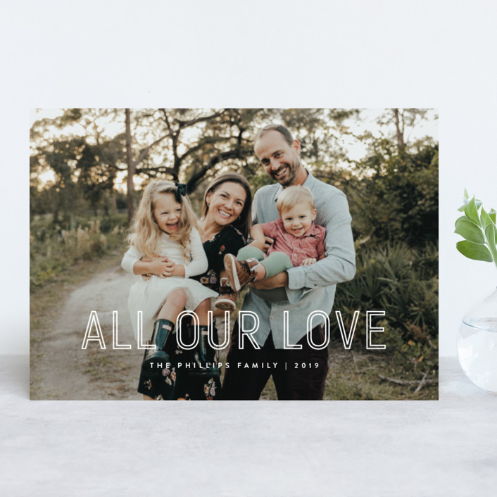 """""""Lettered"""" - Holiday Photo Cards in Winter by JoAnn Jinks."""