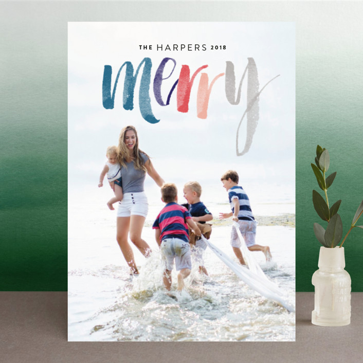 """""""Merry Happens"""" - Holiday Photo Cards in Festive by Design Lotus."""