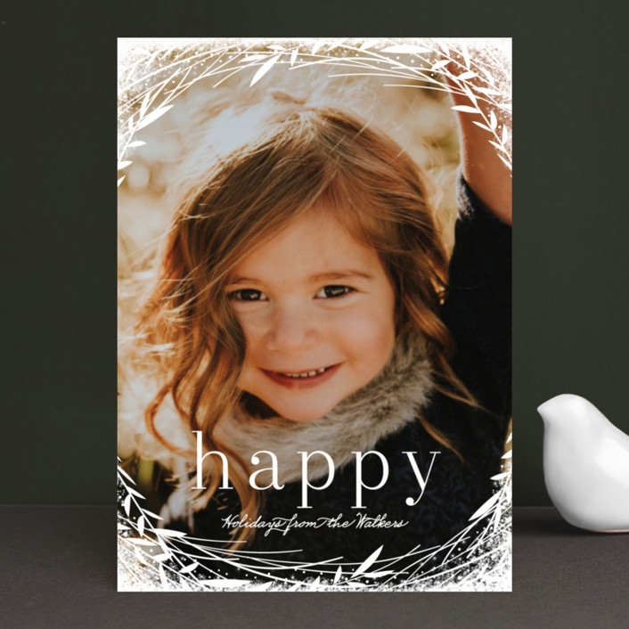 """""""Lovely Wreath"""" - Holiday Photo Cards in Snow by Melanie Severin."""