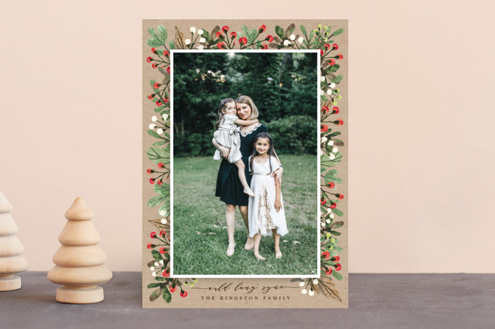 """All Decked Out"" - Holiday Photo Cards in Natural by Michelle Poe."