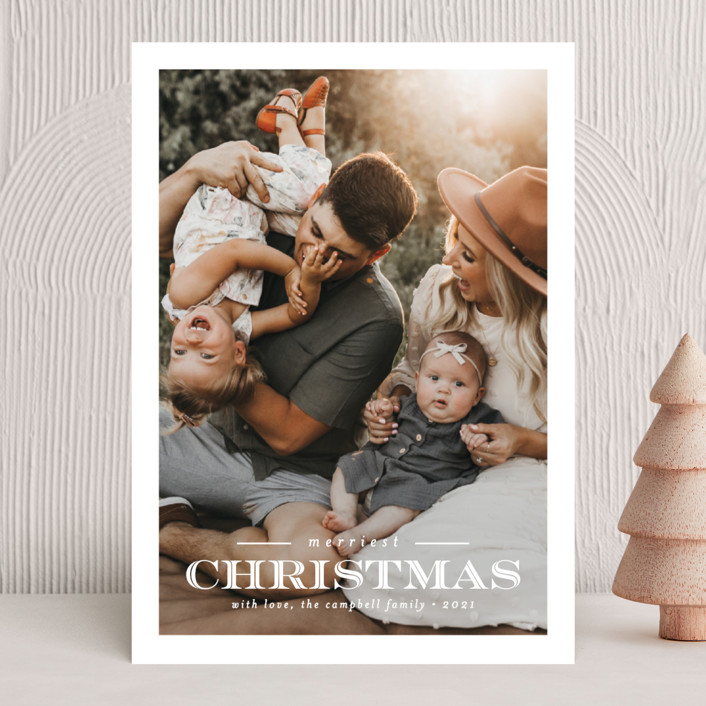 """""""Inline Christmas"""" - Vintage Holiday Photo Cards in Snow by Brianne Larsen."""