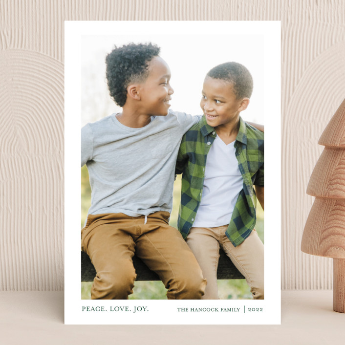 """""""Tiny Blessings"""" - Holiday Photo Cards in Spruce by That Girl Press."""