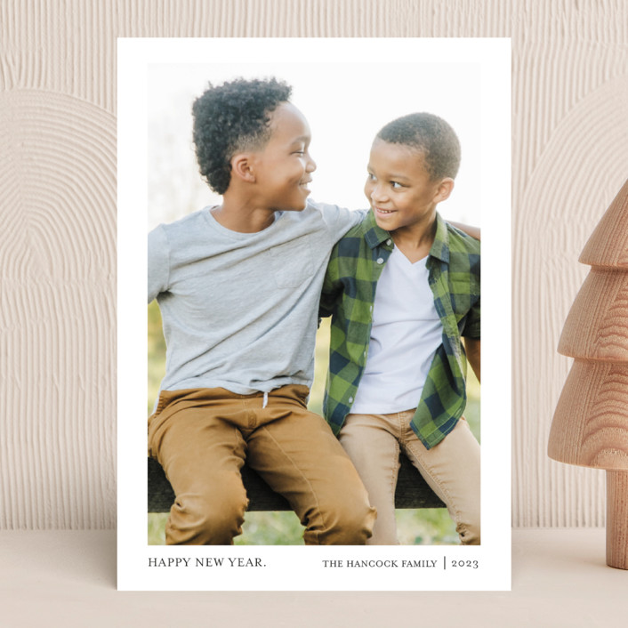 """""""Tiny Blessings"""" - Holiday Photo Cards in Snow by That Girl Press."""
