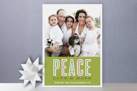 Peace Love & Hope Holiday Photo Cards