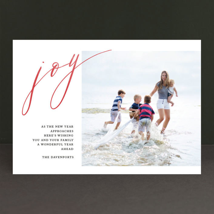 """Unbridled Joy"" - Holiday Photo Cards in Ruby by That Girl Press."