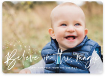 This is a white holiday photo card by Annie Holmquist called Believe with standard printing on smooth signature in standard.