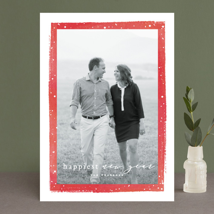 """""""Together Always"""" - Holiday Photo Cards in Berry by Hooray Creative."""