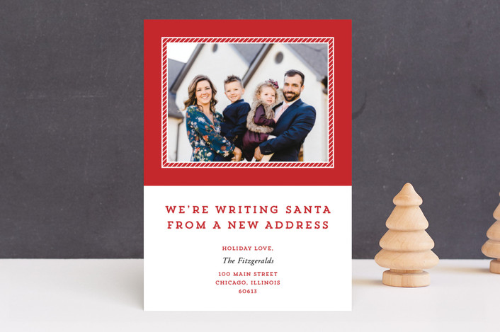 """""""Please Tell Santa"""" - Holiday Photo Cards in Cherry by Kimberly FitzSimons."""