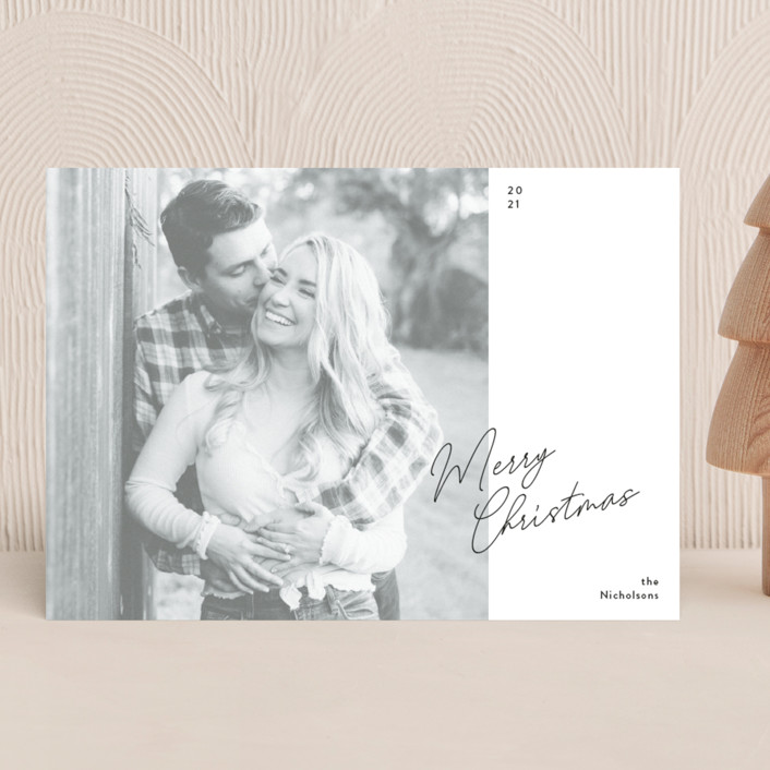 """""""Simple Edit"""" - Holiday Photo Cards in Ink by Dozi."""