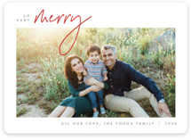 This is a red holiday photo card by JoAnn Jinks called Simplicity with standard printing on smooth signature in standard.