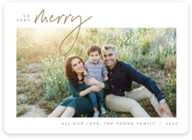 This is a brown holiday photo card by JoAnn Jinks called Simplicity with standard printing on smooth signature in standard.