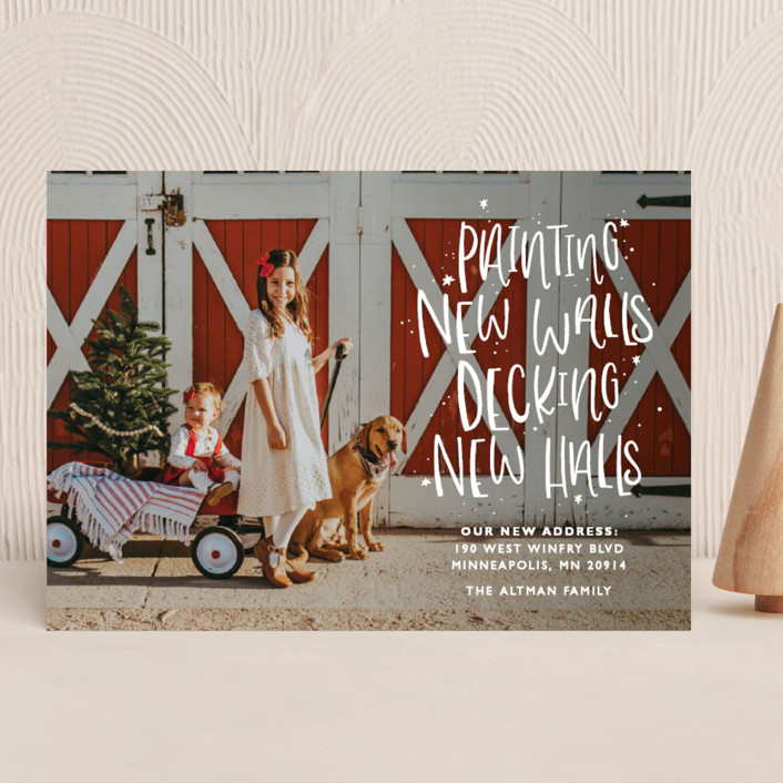 """""""New Halls"""" - Bohemian, Funny Holiday Photo Cards in Ice by Bethany Anderson."""