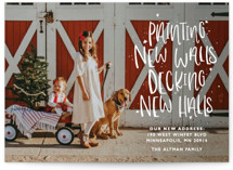 This is a white holiday photo card by Bethany Anderson called New Halls with standard printing on smooth signature in standard.