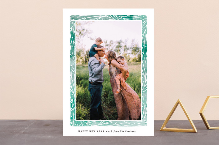 """""""Organic Frame"""" - Holiday Photo Cards in Viridian by Olivia Raufman."""