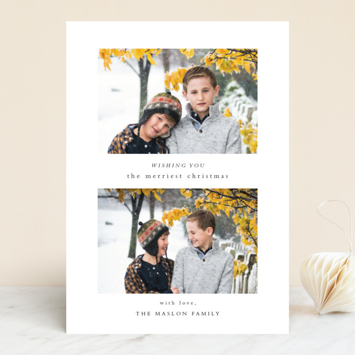 """Foreword"" - Holiday Photo Cards in Snowfall by Jennifer Lew."