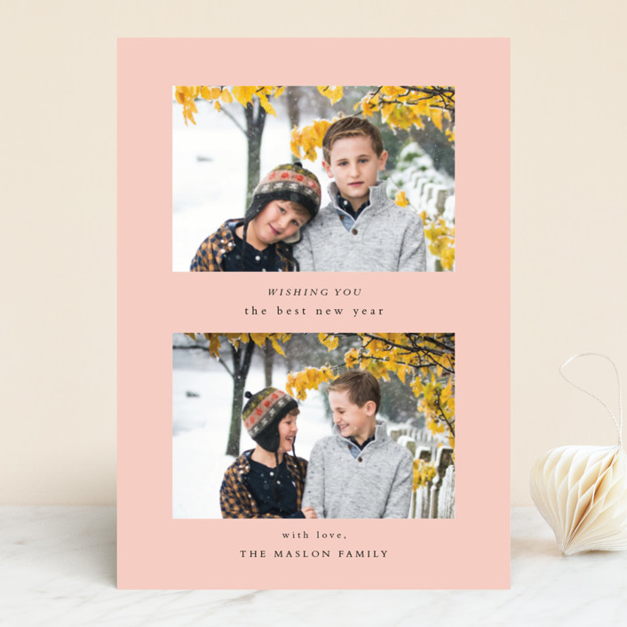 """""""Foreword"""" - Holiday Photo Cards in Snowfall by Jennifer Lew."""
