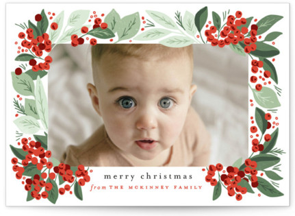 Berry Bunches Holiday Photo Cards